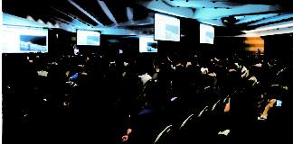 la sala gremita in occasione del congresso internazionale di angiografia, svoltosi a Roma, lo scorso mese di dicembre